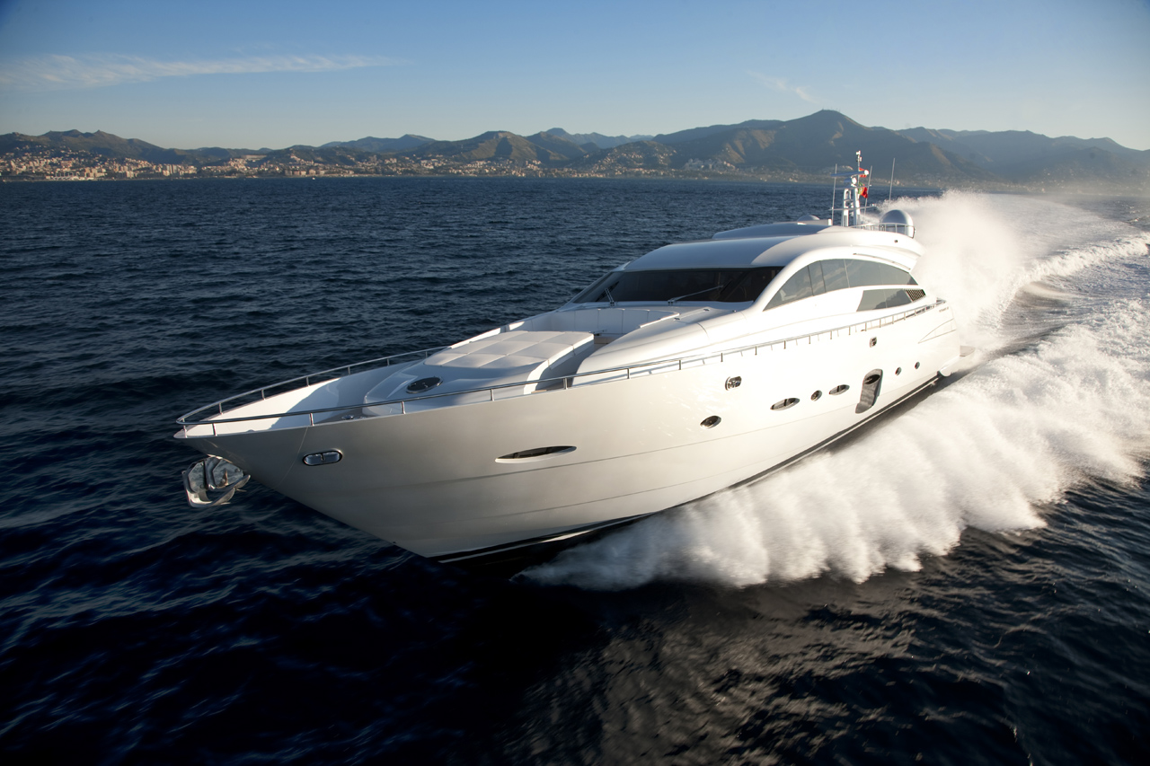 The largest boat at PIMEX 2012 – the Pershing 92 will be a head-turner.
