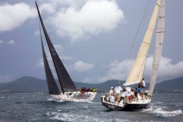 Phuket Raceweek 2011 Racing Class contenders Babe and Kukukerchu.