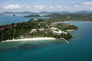 Cape Panwa Hotel Bird's Eye View - title sponsor and host of the 2012 Phuket Raceweek.