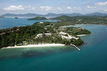 Cape Panwa Hotel Bird's Eye View - title sponsor and host of the 2012 Phuket Raceweek.