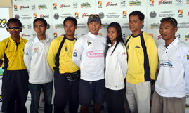 Seven skippers at the 2012 Malaysian Match Racing Championship, Stage One, Day 1. Photo by AsianYachting.