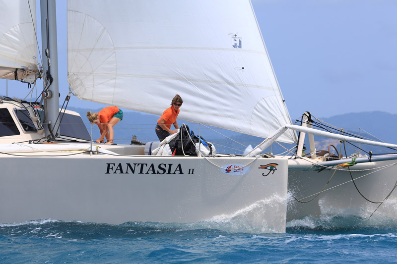 Australian entry, Fantasia, winner of the Multihull class. Photo by SamuiPics.com.