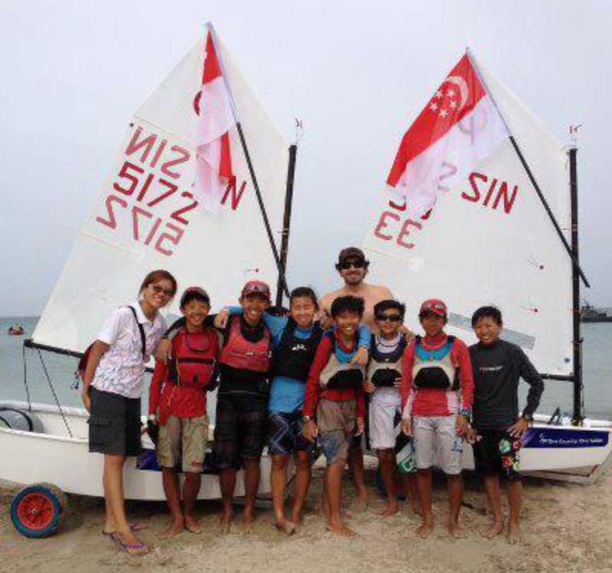 Singapore team at the IODA Asian Optimist Championship 2012 in Sri Lanka.