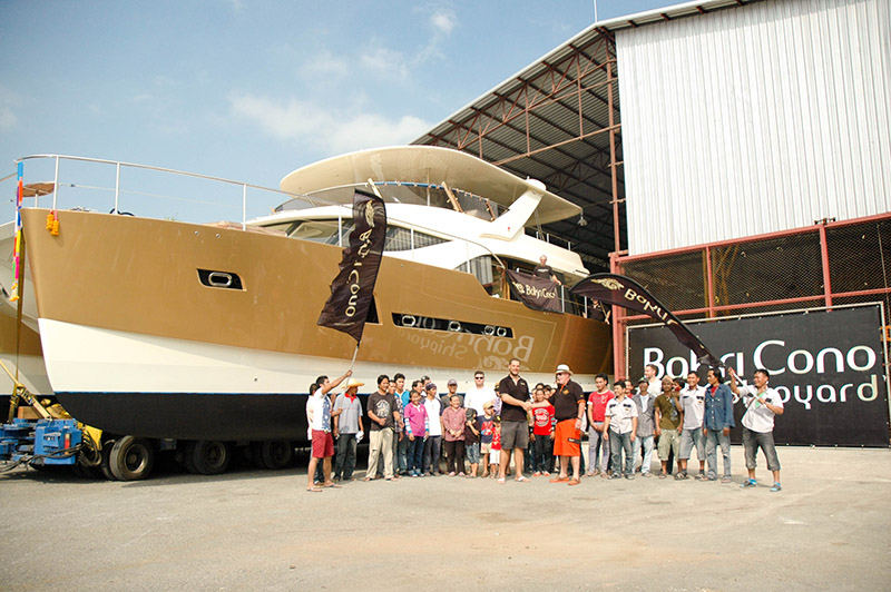 Thai built solar-powered cat launched at Ocean Marina ...
