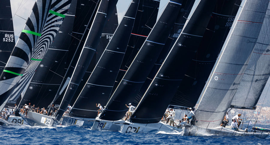 TP52s line-up for the 2017 Rolex TP52 World Championship in Scarlino