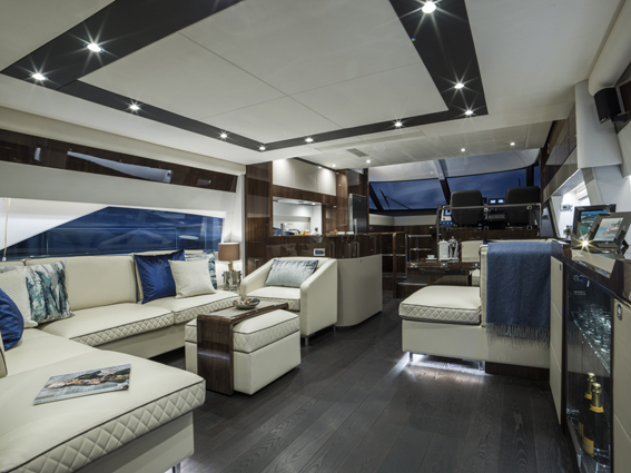 The new Squadron 65 from Fairline Yachts.