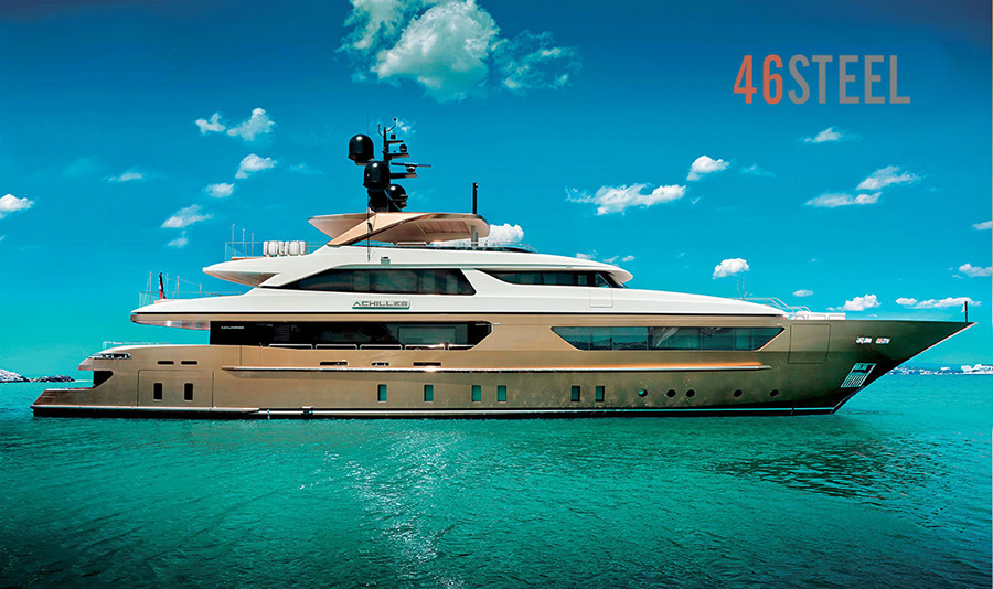 The Sanlorenzo 46Steel - recently sold into Asia by Simpson Marine