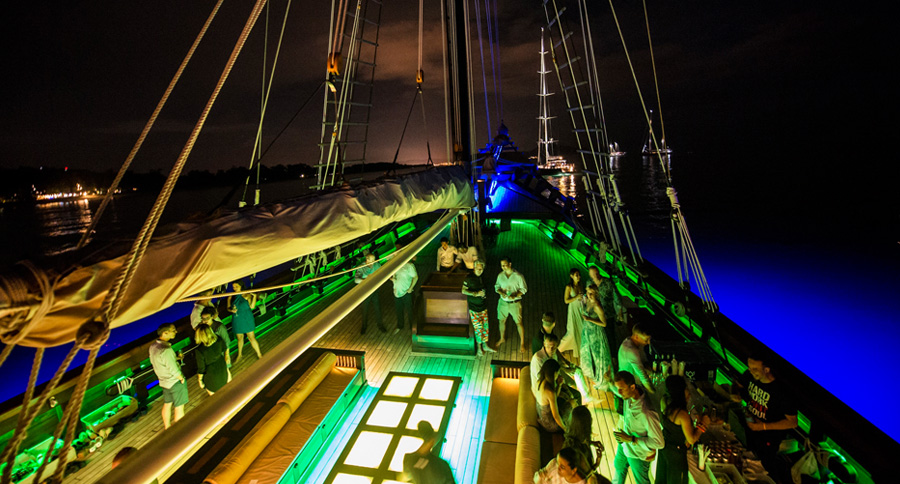 Onboard reception at the Asia Superyacht Rendezvous Cup