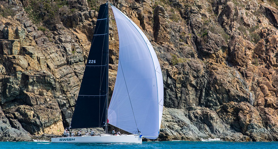 Swish at the Cones. Day 1, Airlie Beach Race Week 2017