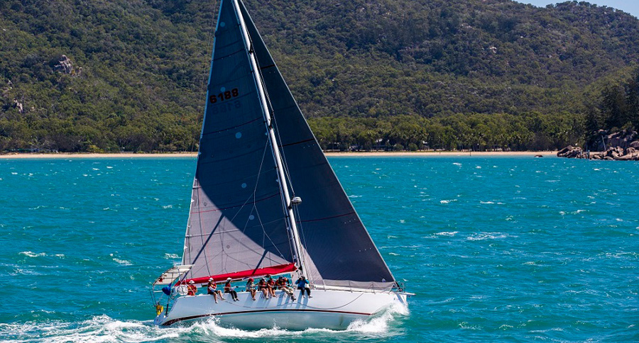 Wine Dark Sea powering along at the 2016 SeaLink Magnetic Island Race Week