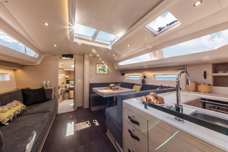 Andrew Winch designed interiors of the Jeanneau 51