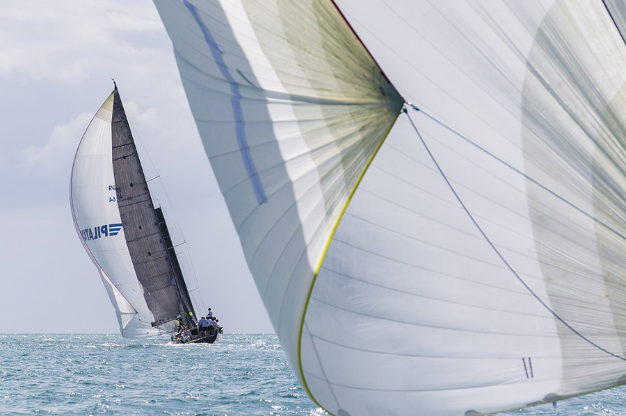 Close up view of the racing. Day 1, Airlie Beach Race Week 2017