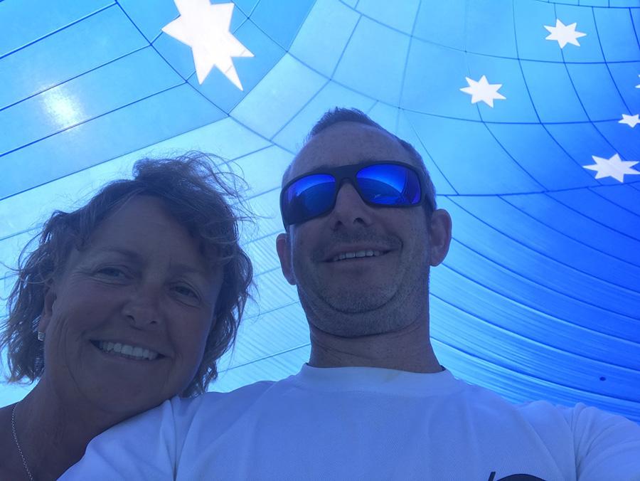 Sarah Goddard-Jones and Pete Lowndes aboard Wine Dark Sea