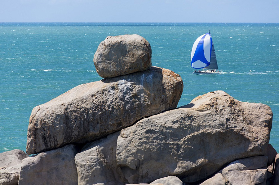 Tevake II on a scenic course at the 2016 SeaLink Magnetic Island Race Week
