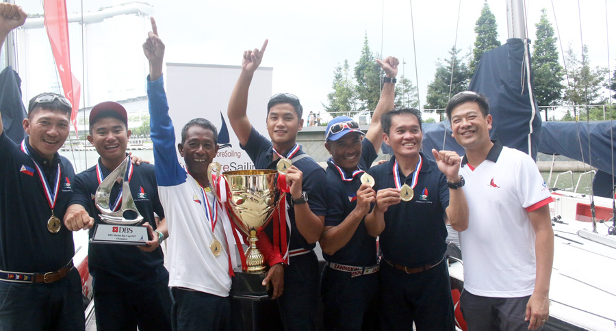 Team Philippines, winners of the DBS Marina Bay Cup 2017
