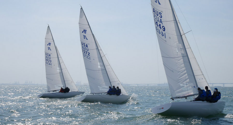 Martin Hill's Lisa Rose (right) taking on the Americans amongst others at the Etchells Pre-Worlds.