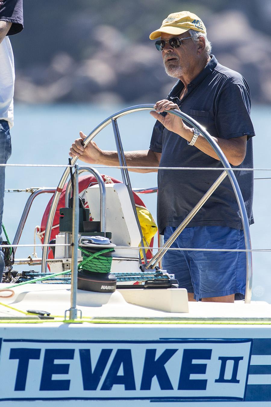 Angus Fletcher at the helm of his Tevake II - SeaLink Magnetic Island Race Week 2017