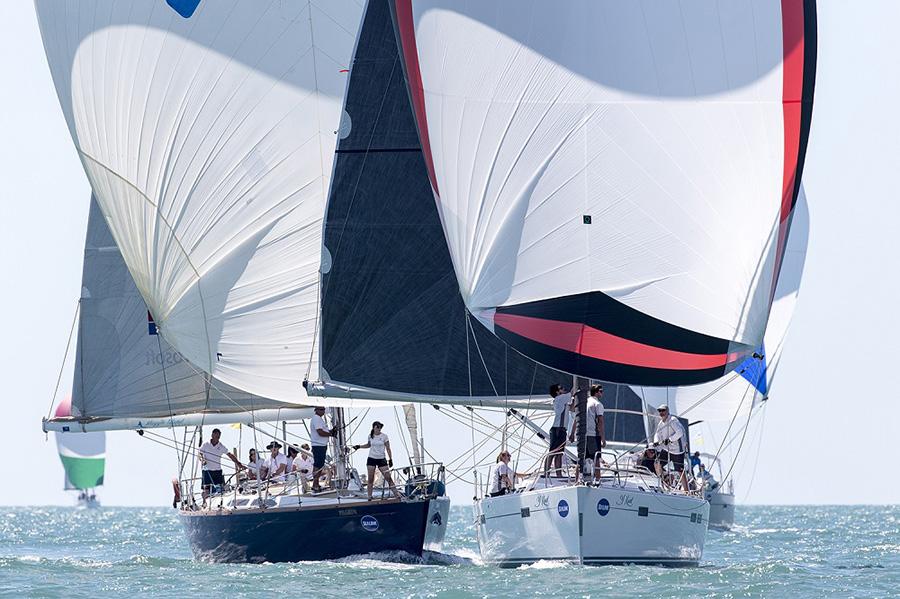 Pilgrim versus Y Knot. SeaLink Magnetic Island Race Week 2017