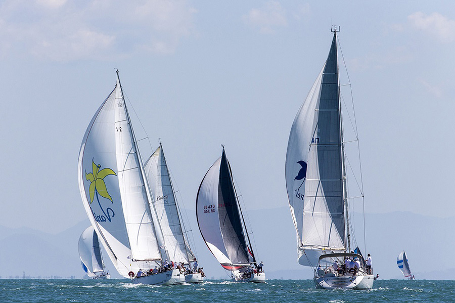 The two Vanillas with Shazam and Y Knot. SeaLink Magnetic Island Race Week 2017