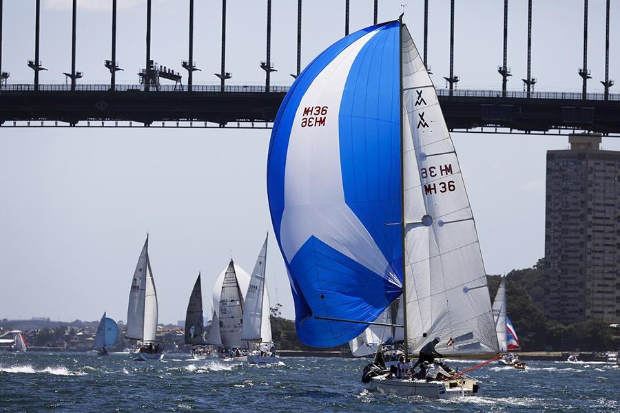 Seven Islands competitors head under Sydney Harbour Bridge