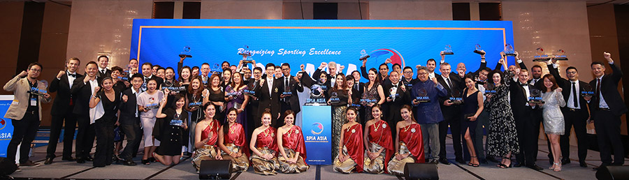 Winners at the  SPIA Asia – Sports Industry Awards 2017