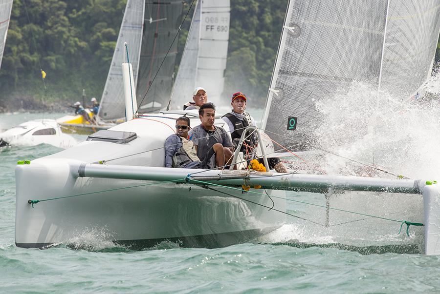 John Newnham helming Twin Sharks to victory in the 2017 Cape Panwa Hotel Phuket Raceweek