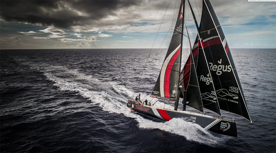 Volvo Ocean Race Leg 4, Melbourne to Hong Kong. Leading the fleet and heading for the home port onboard Sun Hung Kai/Scallywag