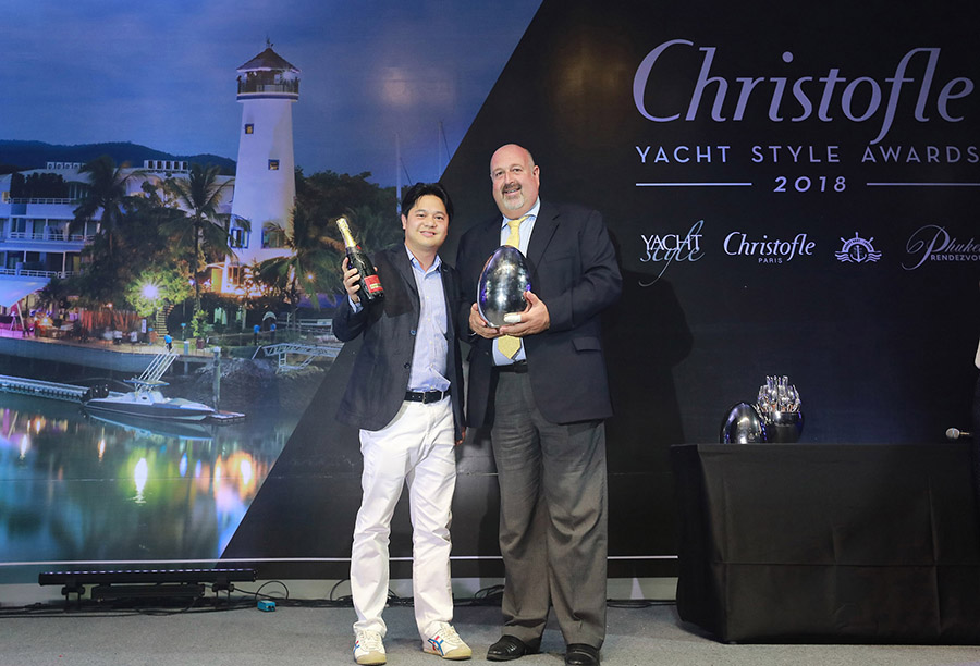 "Ocean Marina Yacht Club crowned ""Best Marina Development"" in Asia at the 2018  Christofle Yacht Style Awards"