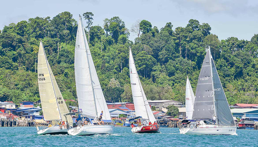 Kuah Harbour racing - Royal Langkawi International Regatta 2018