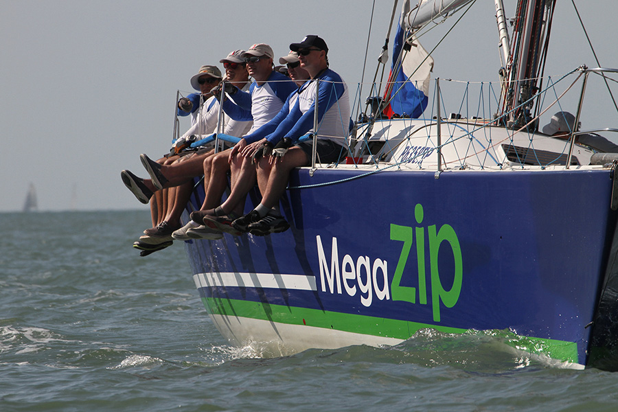 Megazip, winner of the Racing Class. The Bay Regatta 2018