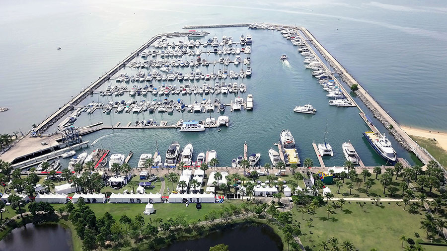 Ocean Marina Yacht Club – free berthing for participants during the regatta and centre of the social scene.