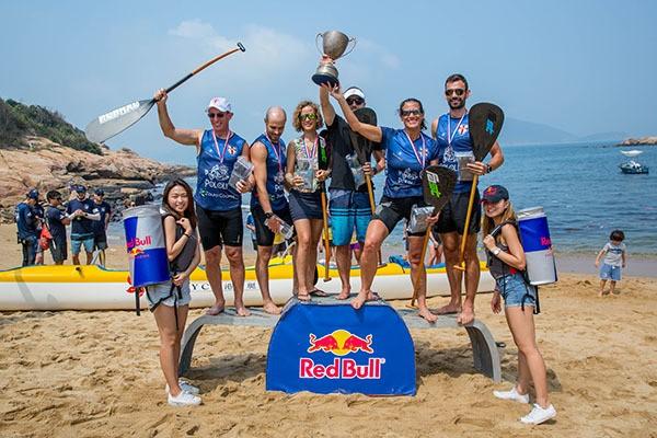 Team Victoria Recreation Club, winners of the Red Bull Three Peaks 2018 in Hong Kong.