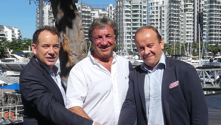 Andy Treadwell, CEO of Verventia Pte Ltd, owner of the Singapore and Thailand Yacht Shows, and Gael and Olivier Burlot, owners of Asia RendezVous Pte Ltd organisers of the Phuket, Penang and Singapore RendezVous events, announce a collaboration.