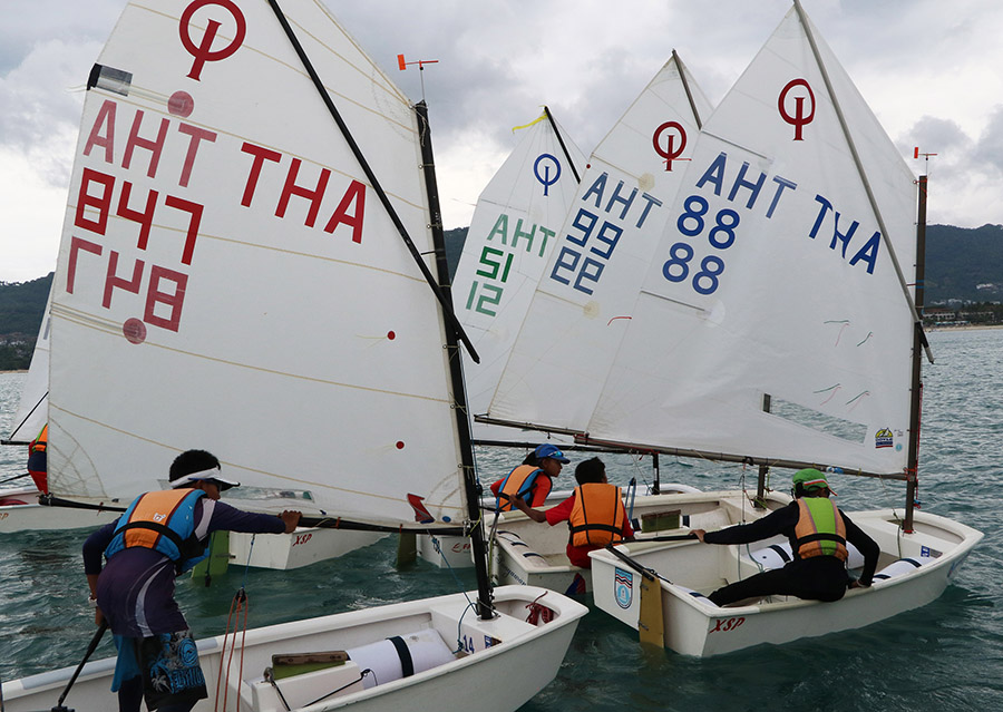 Close racing at the two-day Samui Youth Challenge