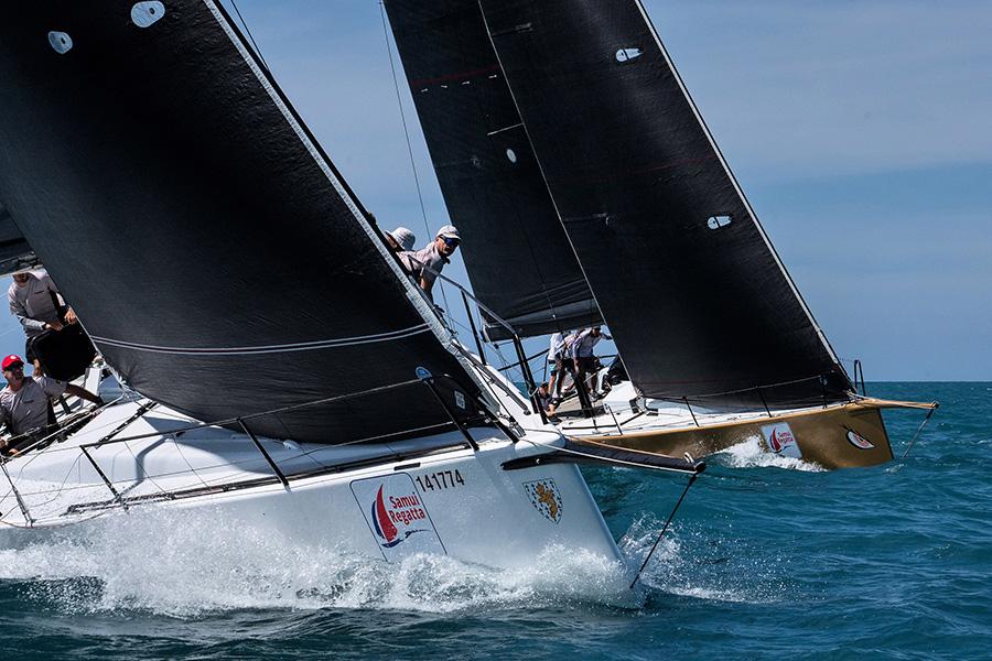 Samui Regatta 2018 - 7 50+ foot racing yachts in IRC Zero