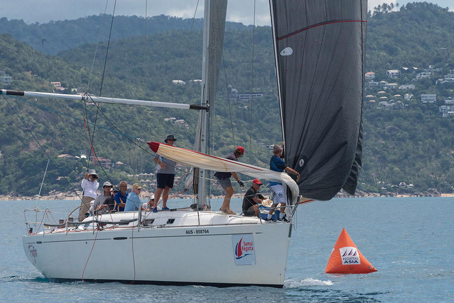 Fujin on her way to second place. Day 4 Samui Regatta 2019.