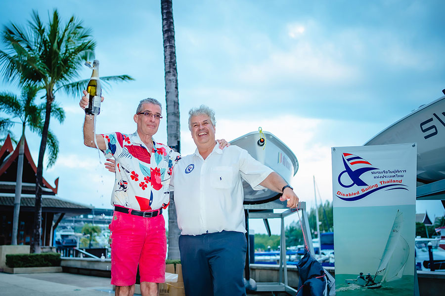 Arnaud C. Verstraete and Peter Jacops at the launch of S\V14s in Phuket.
